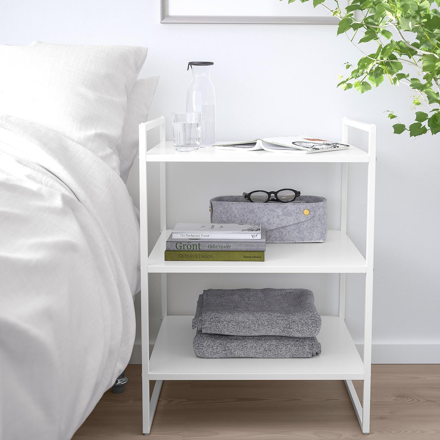 "JONAXEL Shelf unit - white 9 9/9x9 9/9x9 9/9 "" (90x99x9 cm)"