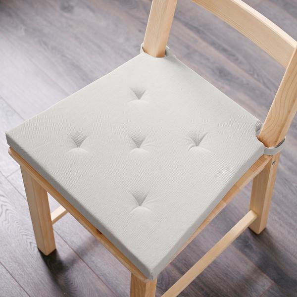 """JUSTINA Chair pad, natural, 17/14x16x2 """""""