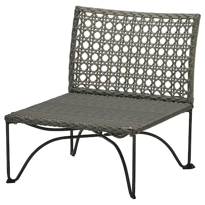 JUTHOLMEN One-seat section, outdoor, dark gray-brown