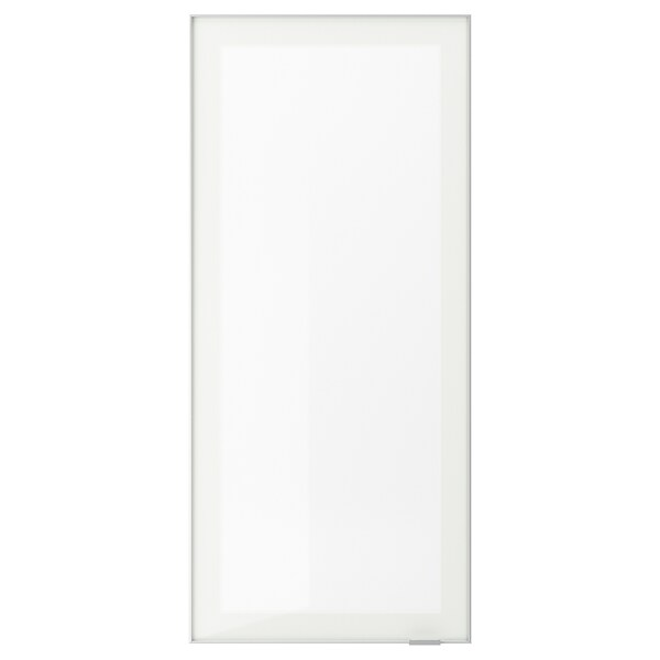 "JUTIS glass door frosted glass/aluminum 17 7/8 "" 40 "" 18 "" 39 7/8 "" 3/4 """