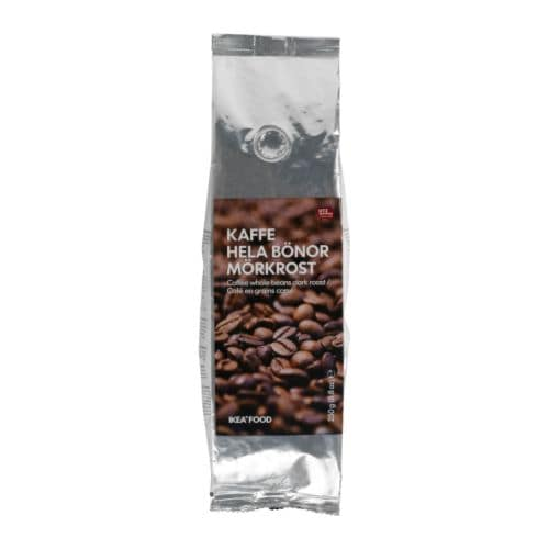 KAFFE HELA BÖNOR MÖRKROST Coffee whole beans, dark roast   UTZ Certified; ensures sustainable farming standards and fair conditions for workers.