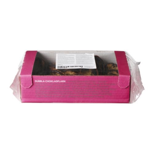 KAKOR CHOKLADFLARN Chocolate crisps, double   Sweet crisps based on oat flakes with chocolate.
