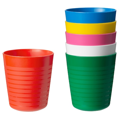 KALAS tumbler multicolor 8 oz 6 pack
