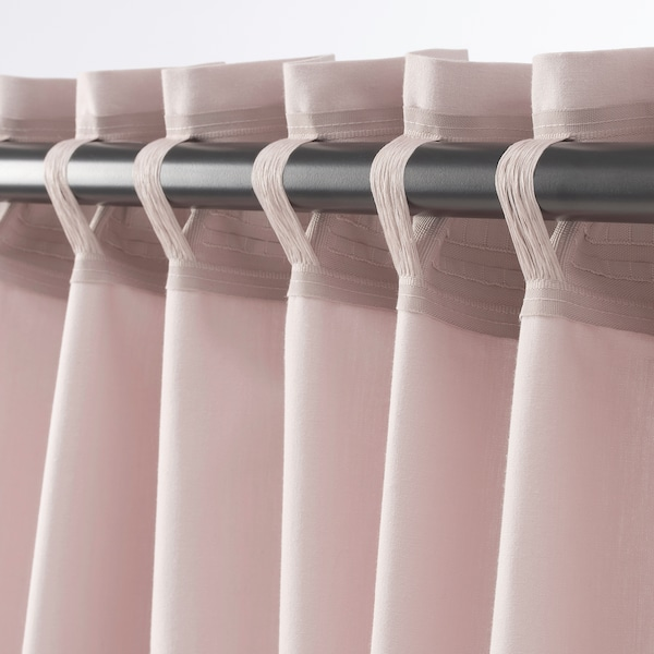 "KALKFLY curtains, 1 pair light pink 98 "" 57 "" 3 lb 6 oz 39.07 sq feet 2 pack"