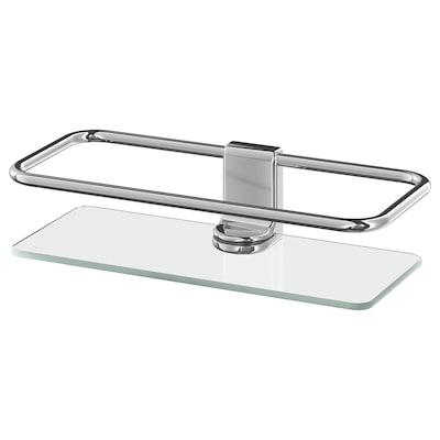 "KALKGRUND Shower shelf, chrome plated, 9 ½x2 ¼ """