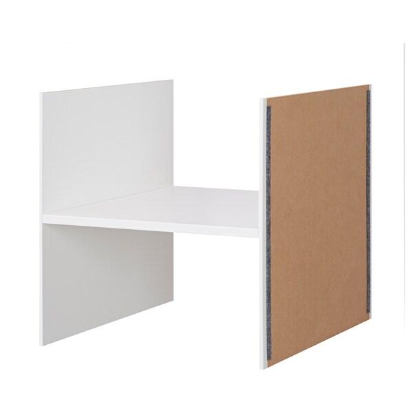 "KALLAX Insert with 1 shelf, white, 13x13 """