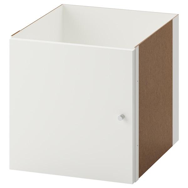 "KALLAX Insert with door, high gloss white, 13x13 """