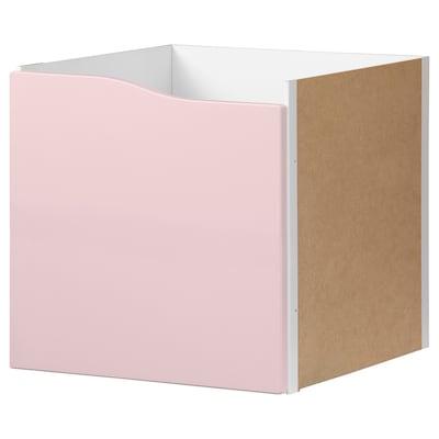 """KALLAX Insert with door, pale pink, 13x13 """""""