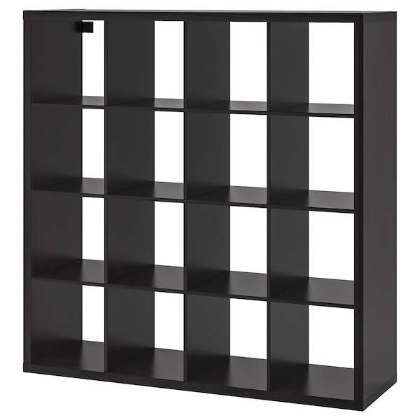 KALLAX Shelf unit, black-brown, 57 7/8x57 7/8 ""