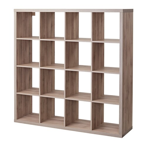 Kallax shelf unit walnut effect light gray ikea Walnut effect living room furniture