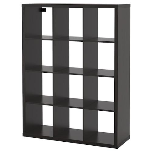 "KALLAX shelf unit black-brown 44 1/8 "" 15 3/8 "" 57 7/8 "" 29 lb"