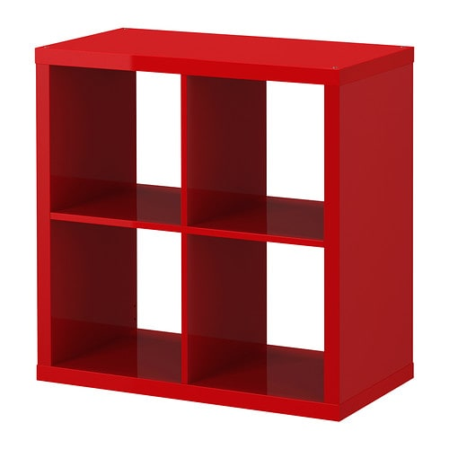 Kallax shelving unit high gloss red ikea for Meuble 9 cases ikea