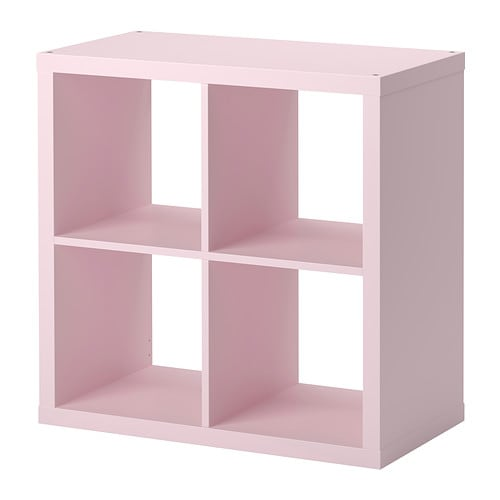 Kallax shelving unit light pink ikea for Meuble 9 cases ikea
