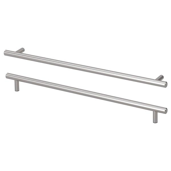 "KALLRÖR Handle, stainless steel, 15 15/16 """