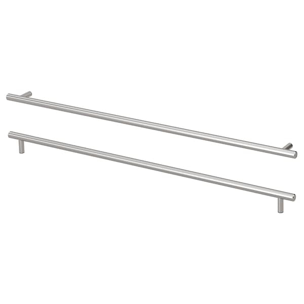 "KALLRÖR Handle, stainless steel, 23 1/2 """