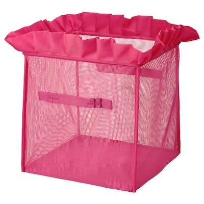 "KARISMATISK Box, foldable pink, 13x13x13 """