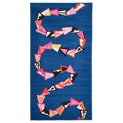 """KARISMATISK Rug, low pile, blue, 2 ' 7 """"x4 ' 11 """""""