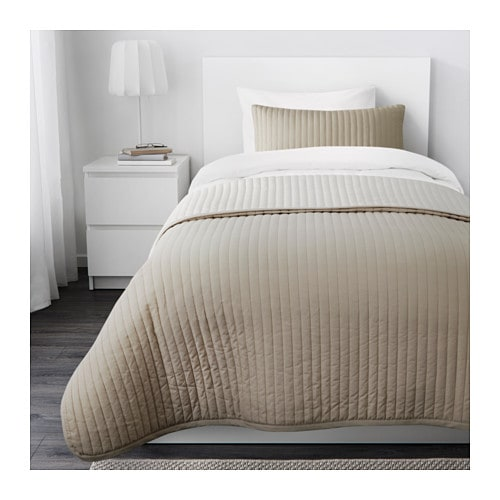 KARIT Bedspread and cushion cover IKEA Extra soft since the bedspread and cushion cover are quilted.