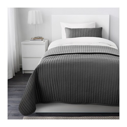 KARIT Bedspread and cushion cover   Extra soft since the bedspread and cushion cover are quilted.