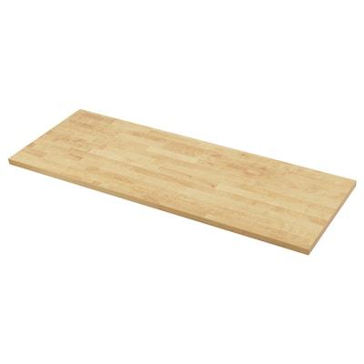 "KARLBY Countertop, birch/veneer, 98x1 1/2 """