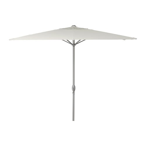 KARLSÖ Parasol   Excellent UV-protection; the fabric blocks at least 97% of the ultraviolet radiation.  Removable and washable fabric.