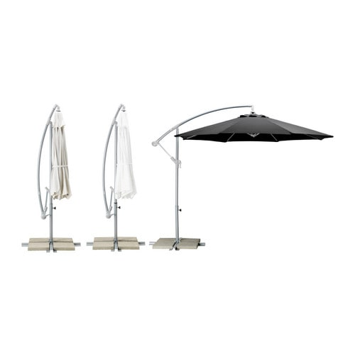 KARLSÖ Umbrella, hanging   The fabric is water-resistant and provides excellent UV protection (min.   97.  5% of UV is blocked).