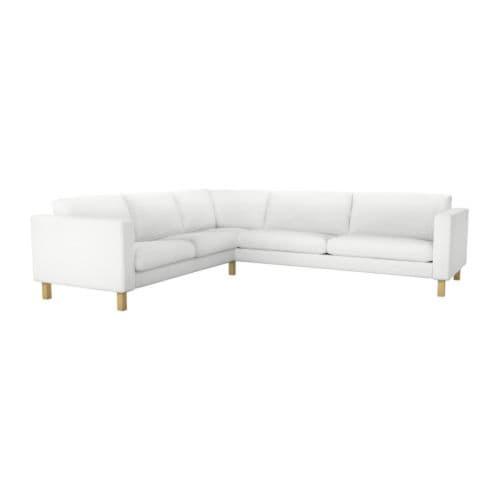 gallery of karlstad corner sofa cover white