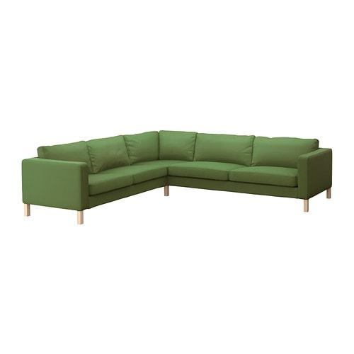 Karlstad corner sofa 2 3 3 2 sivik green ikea Ikea karlstad sofa