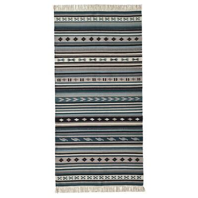 """KATTRUP Rug, flatwoven, handmade/blue, 2 ' 6 """"x4 ' 11 """""""