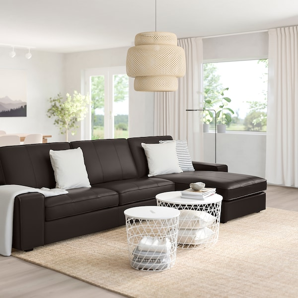 Kivik Sectional 4 Seat With Chaise Grann Bomstad Grann Bomstad Dark Brown Ikea