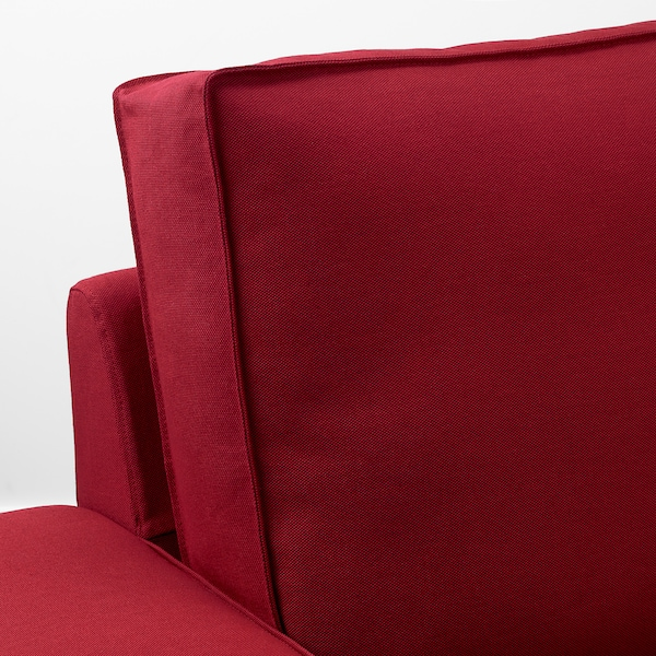 """KIVIK sectional, 4-seat with chaise/Orrsta red 125 1/4 """" 32 5/8 """" 37 3/8 """" 64 1/8 """" 23 5/8 """" 48 7/8 """" 17 3/4 """""""