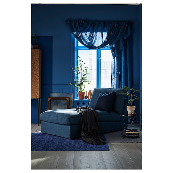 KIVIK Chaise, Hillared dark blue