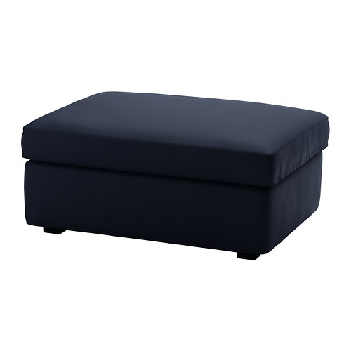 KIVIK Cover for footstool with storage   The cover is easy to keep clean as it is removable and can be machine washed.