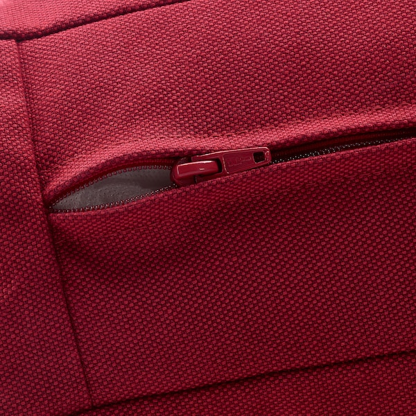 KIVIK Cover for footstool with storage, Orrsta red