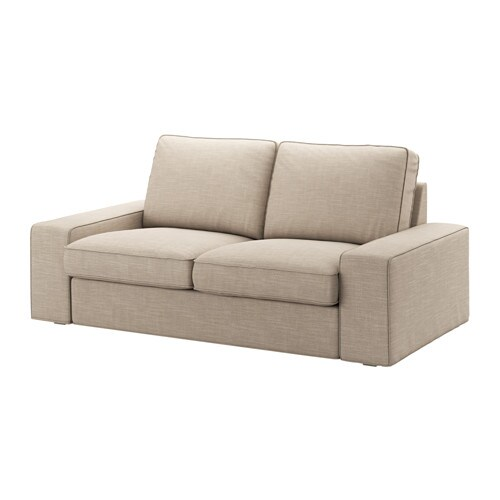 Kivik loveseat hillared beige ikea for Canape 4 place ikea