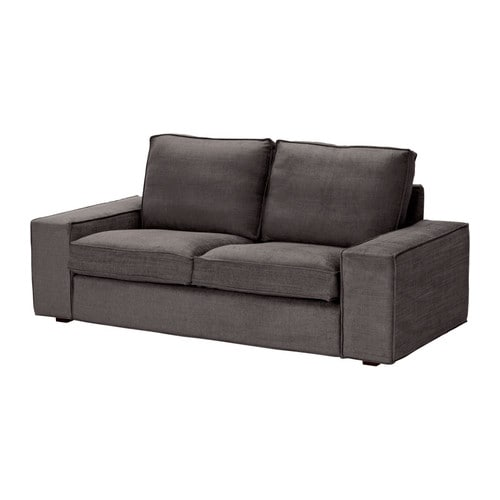 KIVIK Loveseat cover   The cover is easy to keep clean as it is removable.  Durable cover of chenille quality with a slight sheen and a soft feel.