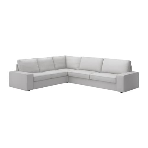 Kivik sectional 5 seat corner orrsta light gray ikea - Kivik corner section ...