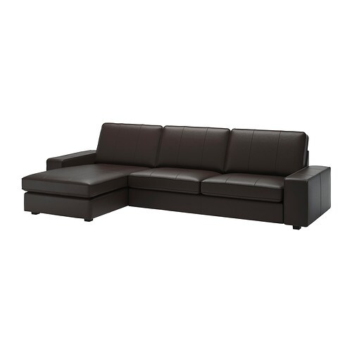 Kivik sofa and chaise lounge grann bomstad dark brown ikea Ikea lounge sofa