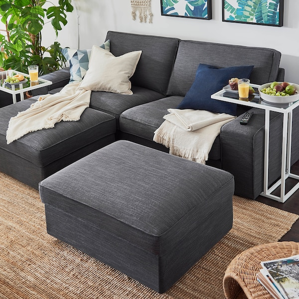 Kivik Sofa Hillared Anthracite Ikea