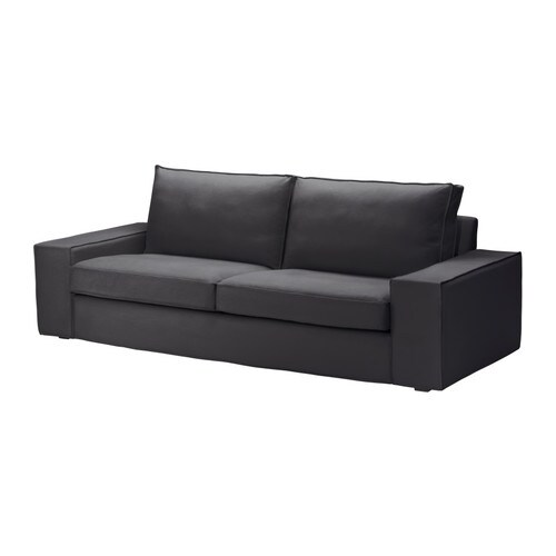 Kivik sofa dansbo dark gray ikea for Housse sofa ikea