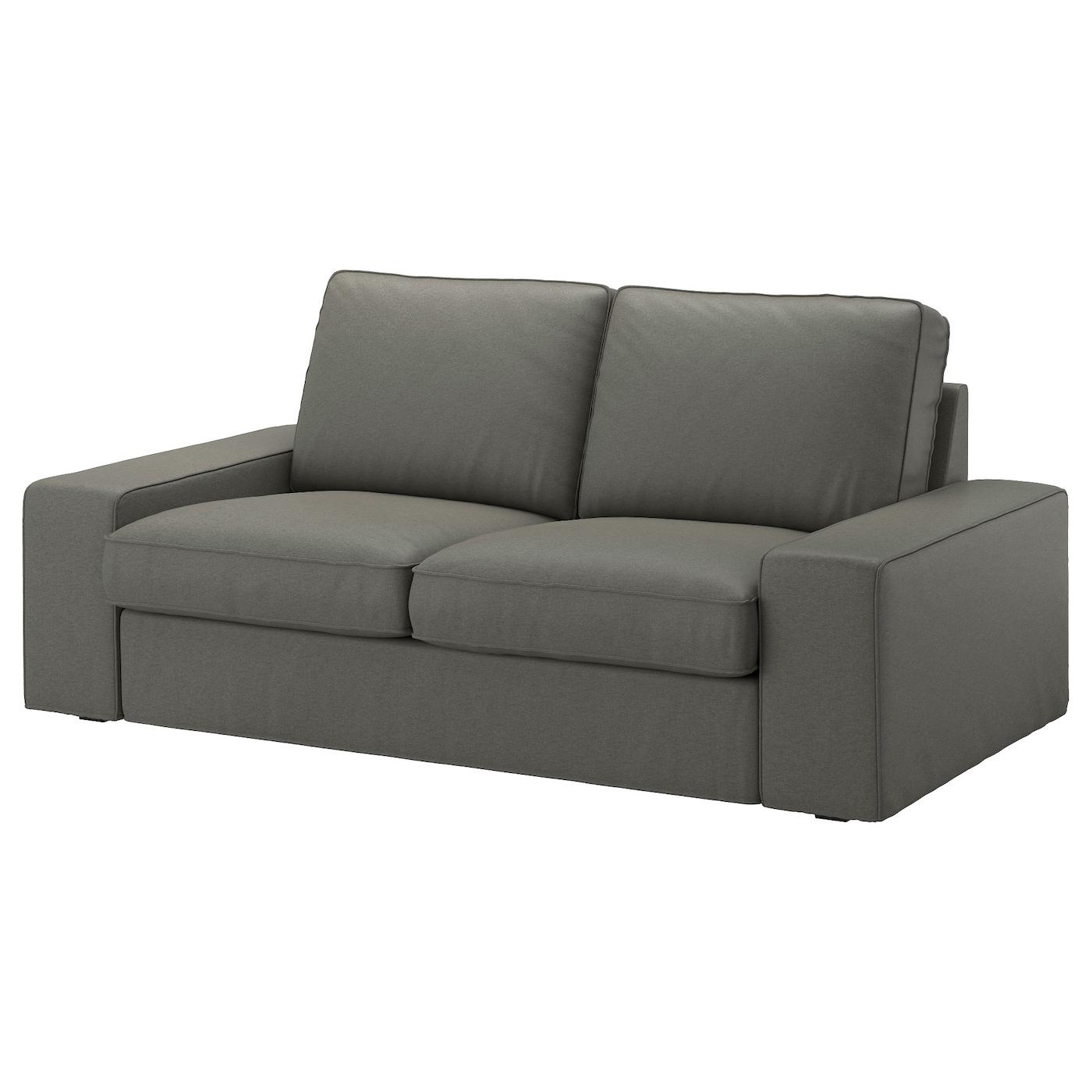 Cool Kivik Loveseat Borred Gray Green Evergreenethics Interior Chair Design Evergreenethicsorg