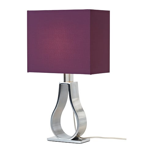 KLABB Table lamp   Fabric shade gives a diffused and decorative light.