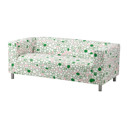 Klippan loveseat marrehill pink green ikea for Housse klippan