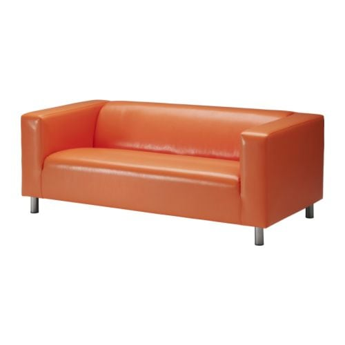 KLIPPAN Loveseat   Easy to keep clean; wipe with a sponge dampened with water or a mild detergent.