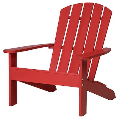 KLÖVEN Deck chair, outdoor, red
