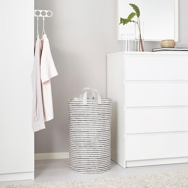 KLUNKA Laundry bag, white/black, 16 gallon