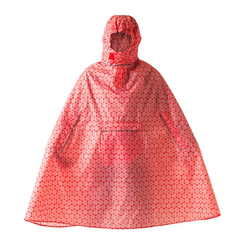KNALLA Rain poncho   The poncho folds into its own pocket and easily fits in your backpack or briefcase.