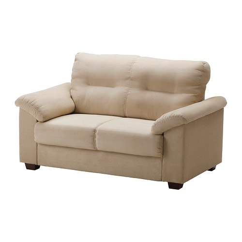 KNISLINGE Loveseat   The high back provides good support for your neck.  Durable, easy care microfiber cover with a soft suede feel.