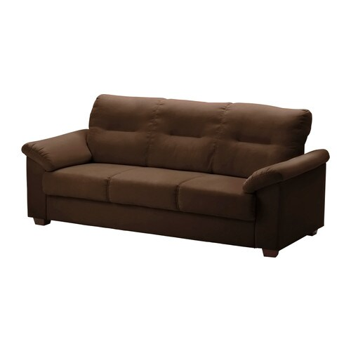 KNISLINGE Sofa   High back provides great support for your neck.  Durable, easy care microfiber cover with a soft suede feel.