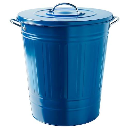 "KNODD bin with lid dark blue 20 "" 16 ¼ "" 11 gallon"